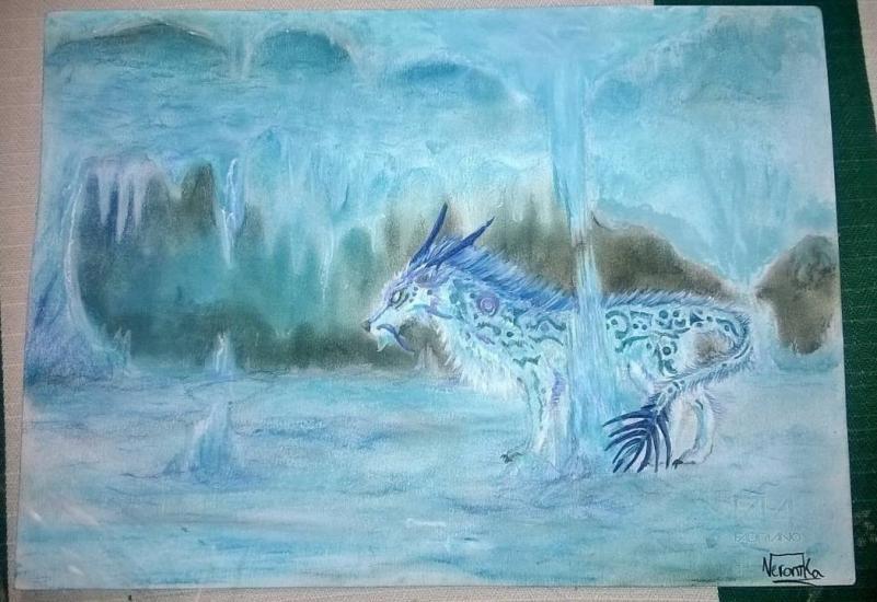 Ice Dragon-Wolf