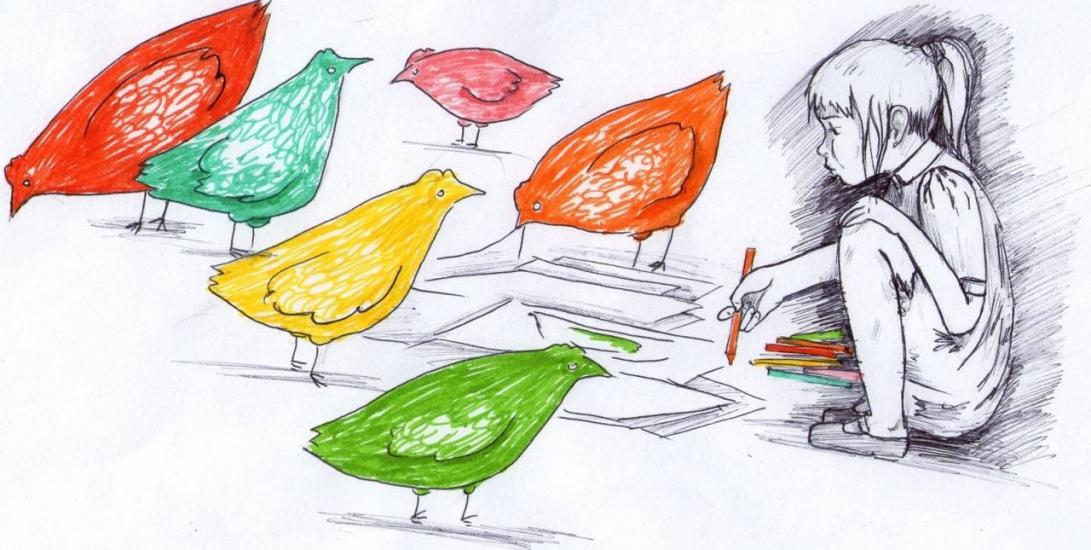 colored chickens