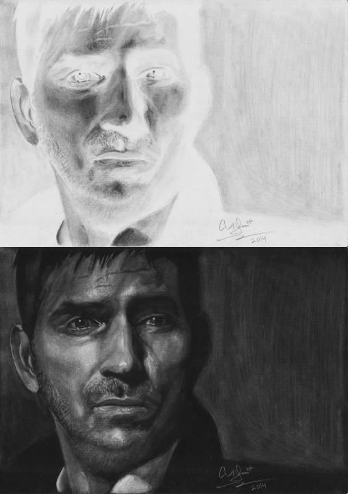 John Reese Person of Interest Negative drawing