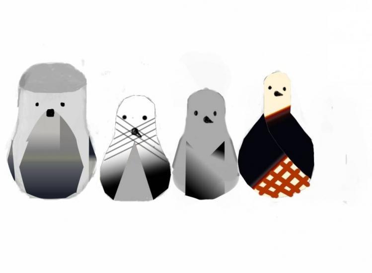 gradient penguins