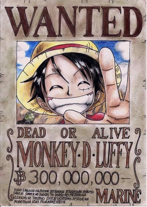 Luffy's wanted poster