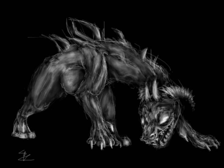 Sketch of weird creature