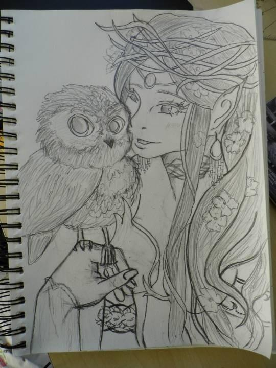 Owl and Fairy ( not yet finished)