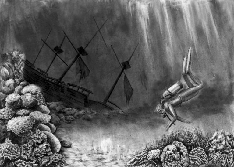 The wreck of galleon