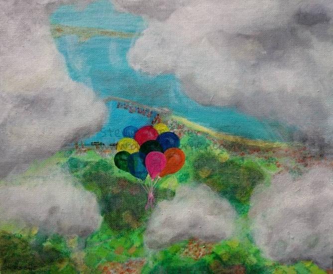 Balloons Escaping
