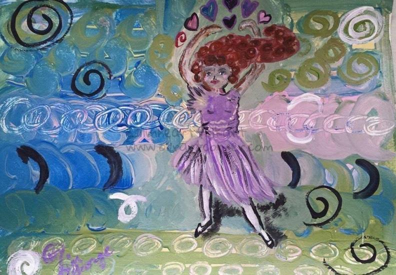 Dancing Swirls Silhouette