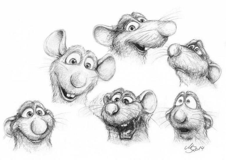 Ratatouille - Remy - Facial Expressions