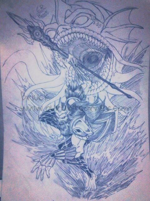 Fan-art Poseidon-Smite