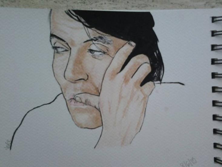 Fabrizio De Andrè (watercolours)