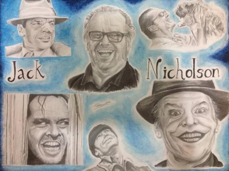 Jack Nicholson drawing.