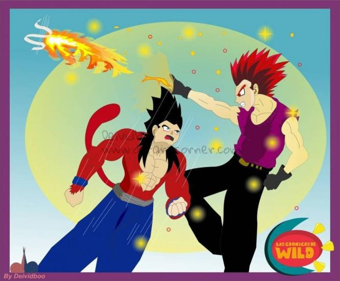 Wild ssj4 vs Garland PFFire By Deividboo