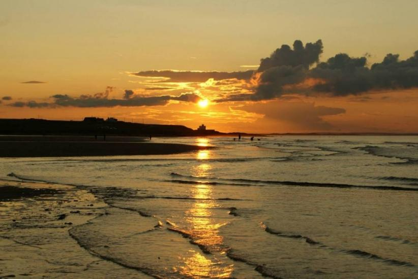 Bamburgh At Sunset