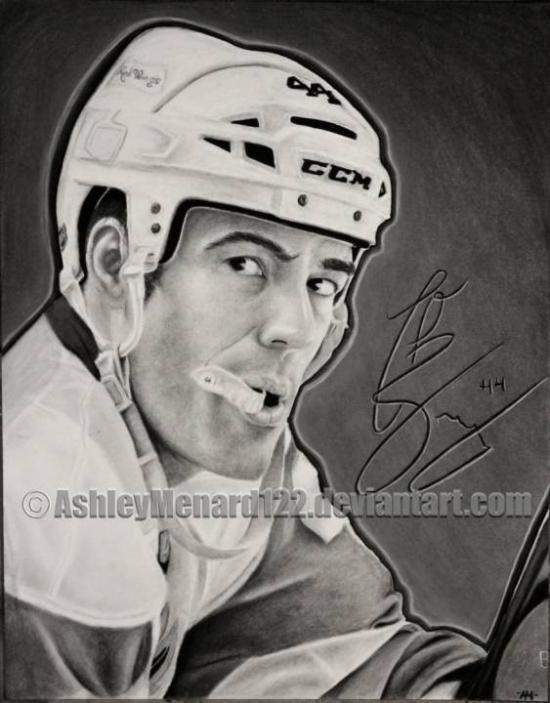 Todd Bertuzzi of Detroit Red Wings Charcoal Portra