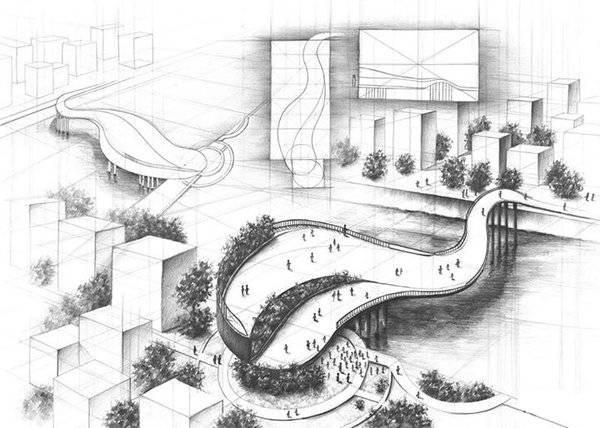 The pedestrian bridge - project