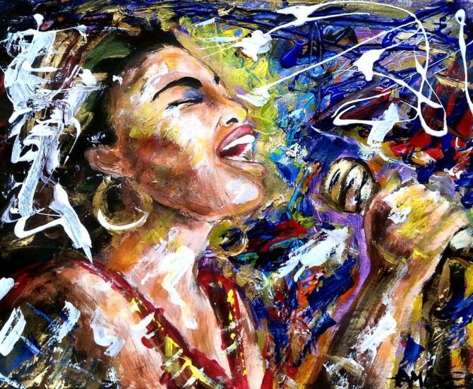 She sang the blues