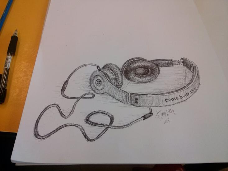 Quick Pen Sketch Headphones