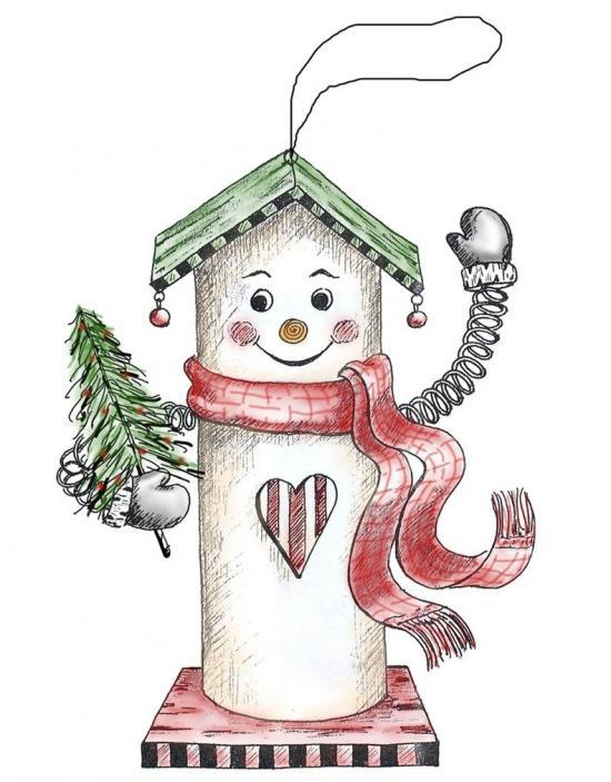 Snowman B House Ornament
