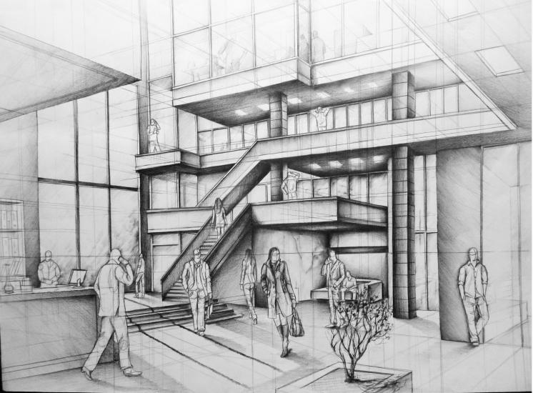 office building atrium-project