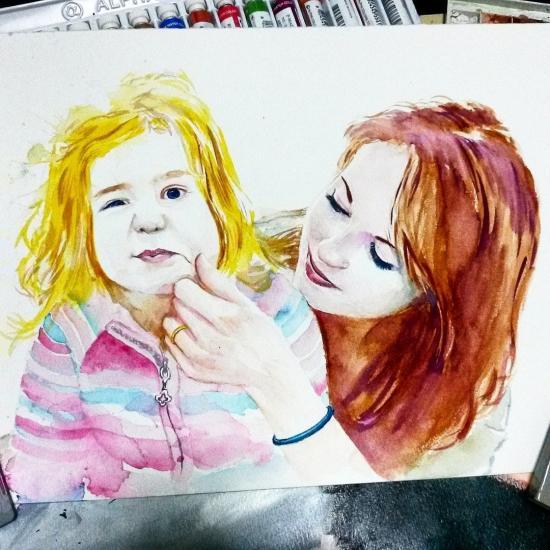 Kristina and her daughter Zhenya