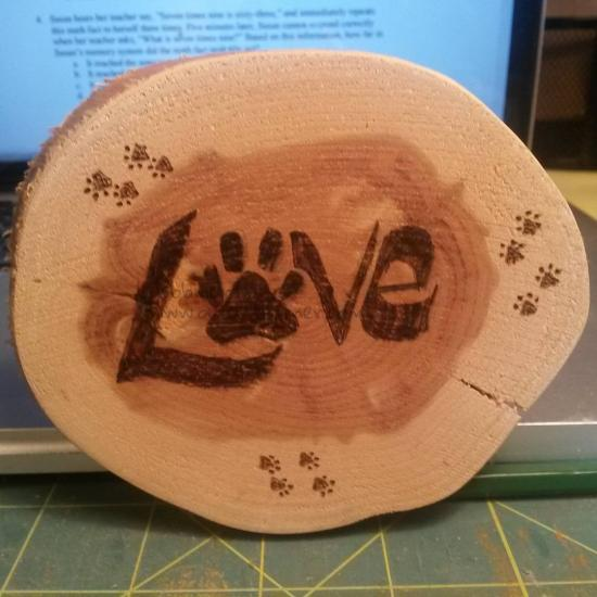 Love/wood burning