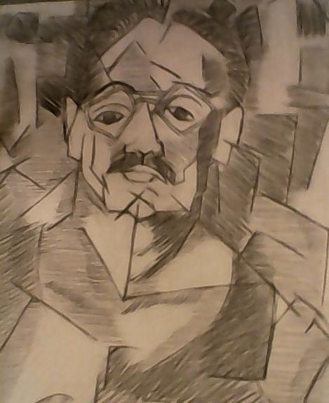 Cubism self portriat
