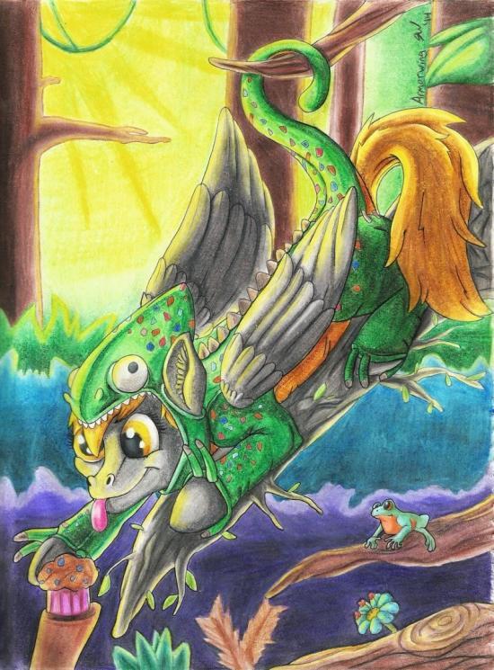 A Derpy Chameleon