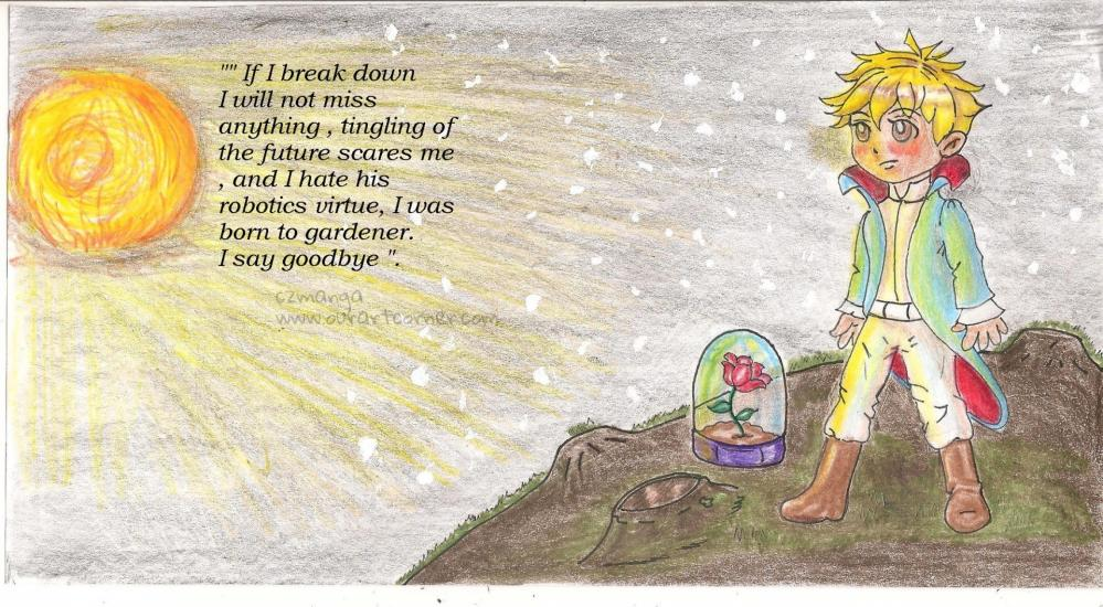 Le Petit Prince with a quote