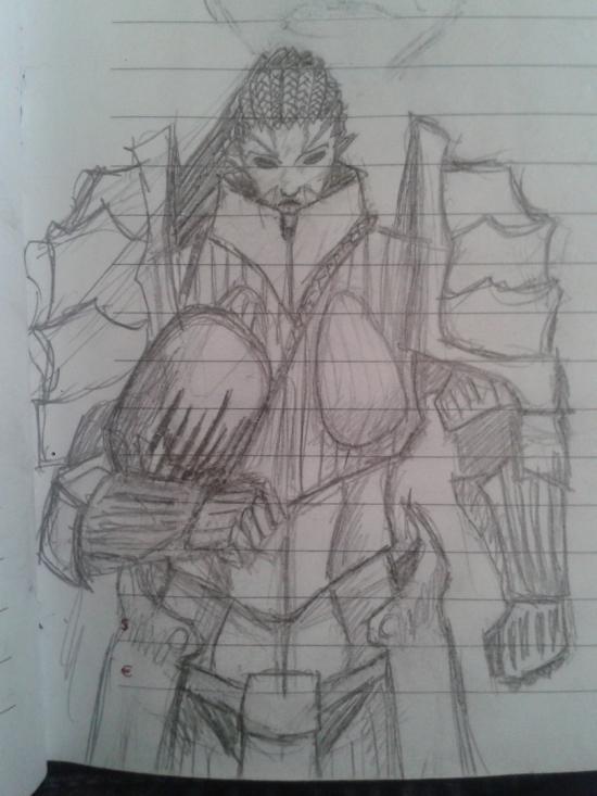 sketch pr a female heavy plate