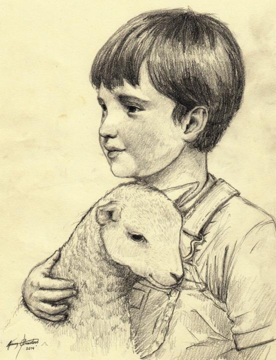 Child with Lamb II