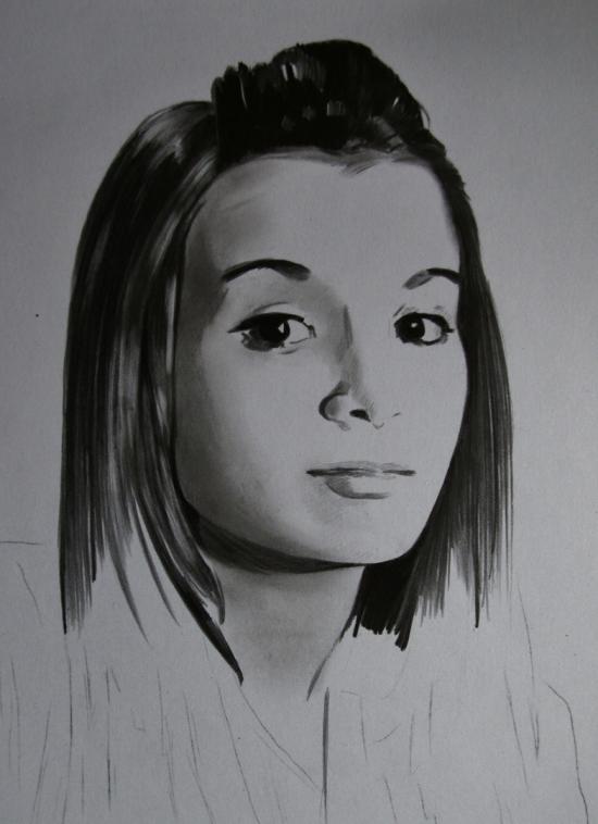 an unfinished portrait