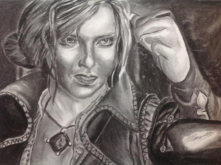 Drawing of Triss Merigold.