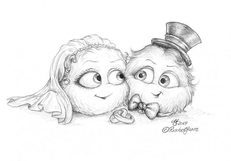 Puschels' Wedding - Sketch
