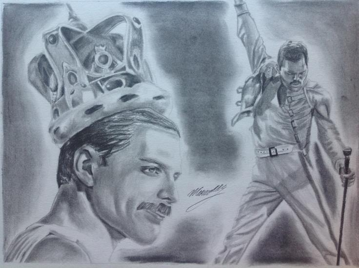 Drawing of Freddy Mercurie.