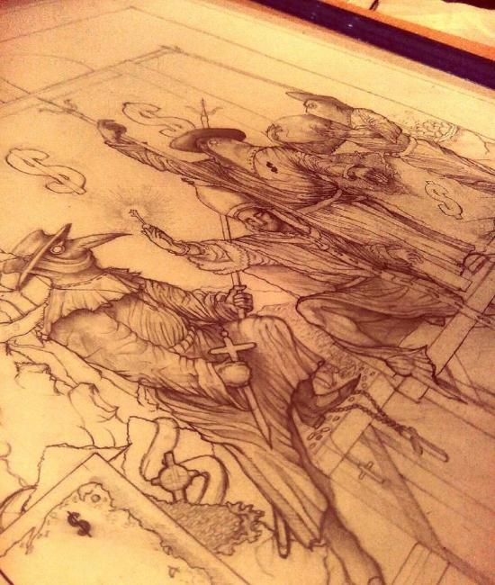 Pencil concept drawing
