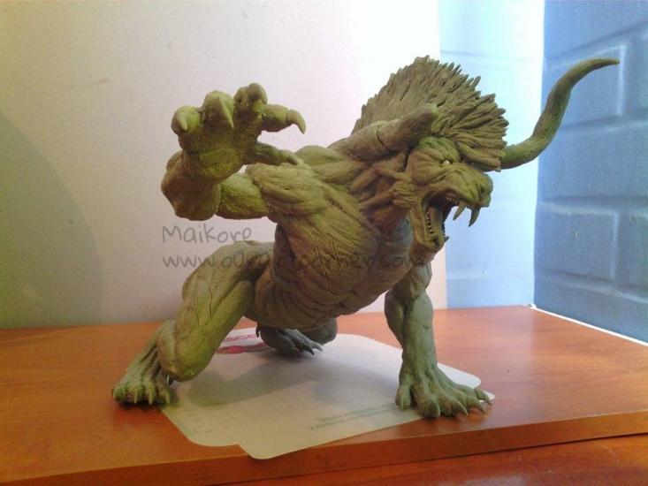 Behemoth sculpture Final Fantasy XV (Deadeye)