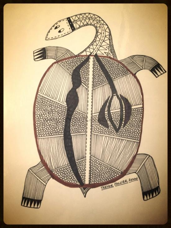 X-Ray Drawing - Turtle