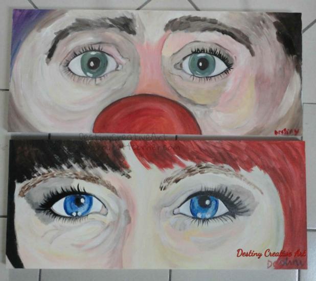 il clown e la sua ballerina
