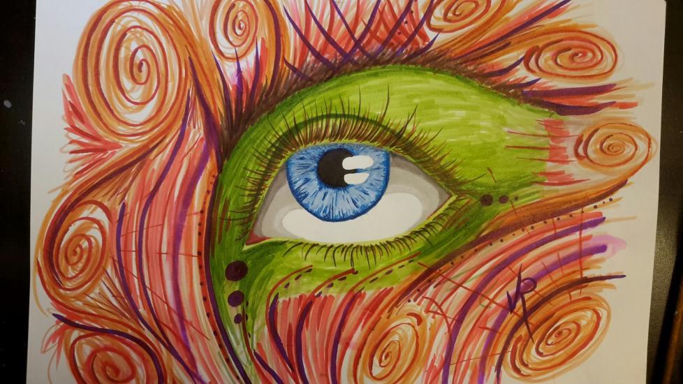 Eye ink drawing 2