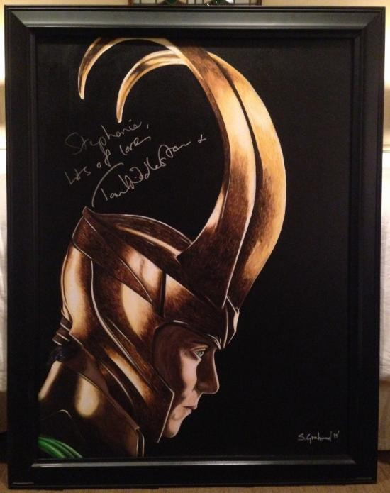 Autographed Loki Painting