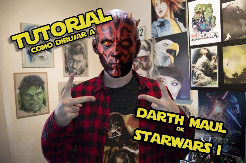 How to Draw DARTH MAUL from Star Wars I | TUTORIAL
