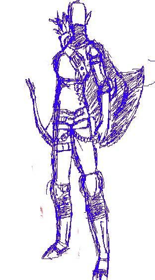 Oblivion armour sketch
