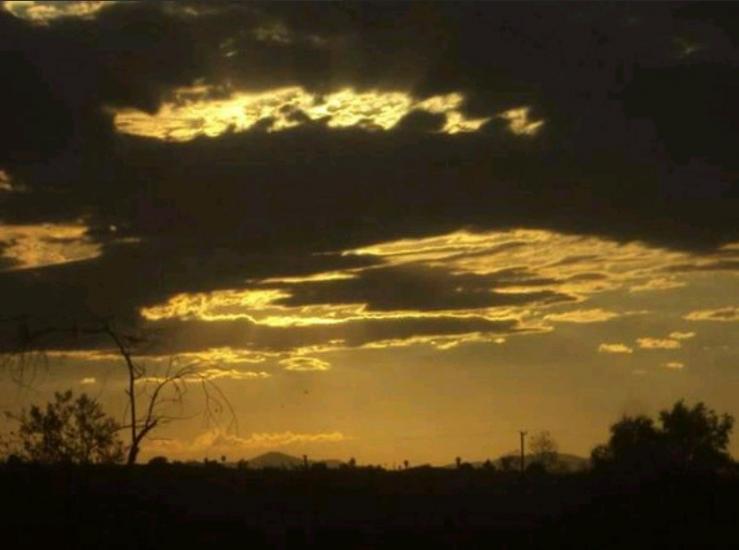 Golden Desert Skies