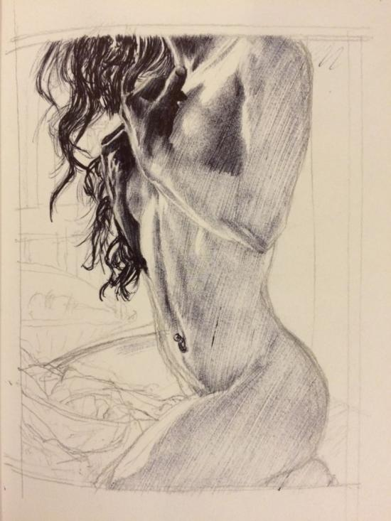 Nude & contrast study WIP 2