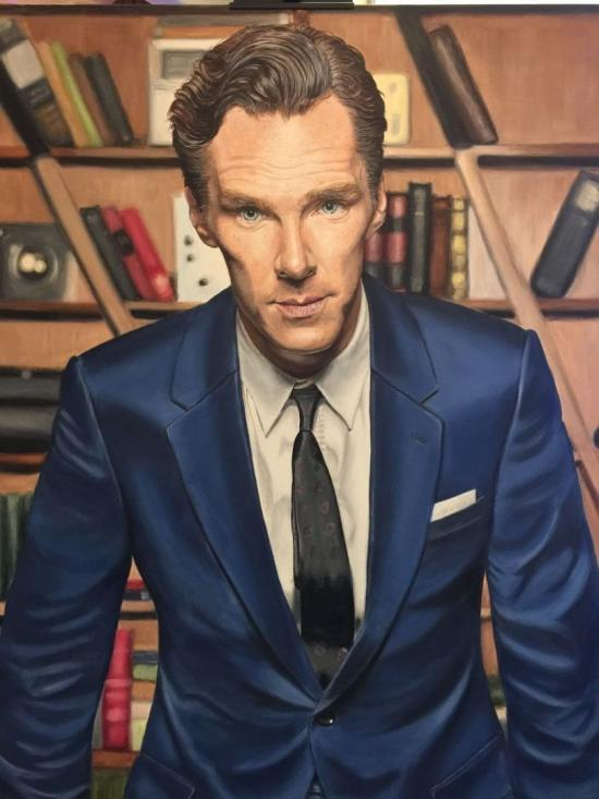 Benedict Cumberbatch from the BBC series Sherlock