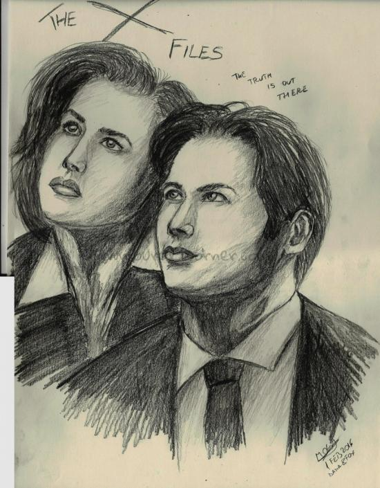 Fox Mulder and Danna Scully