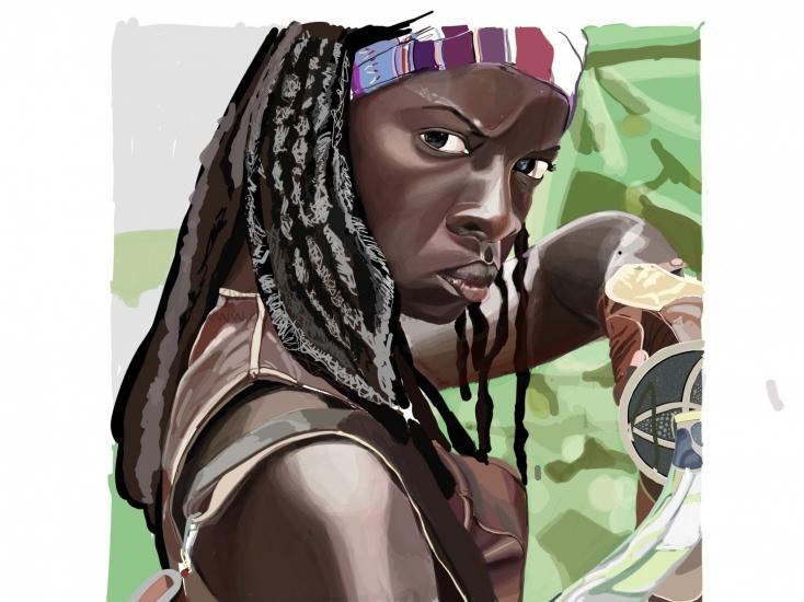 WIP. Michonne from The Walking Dead