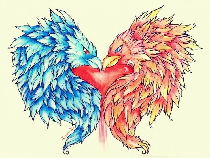 Heart of the Phoenix tattoo design