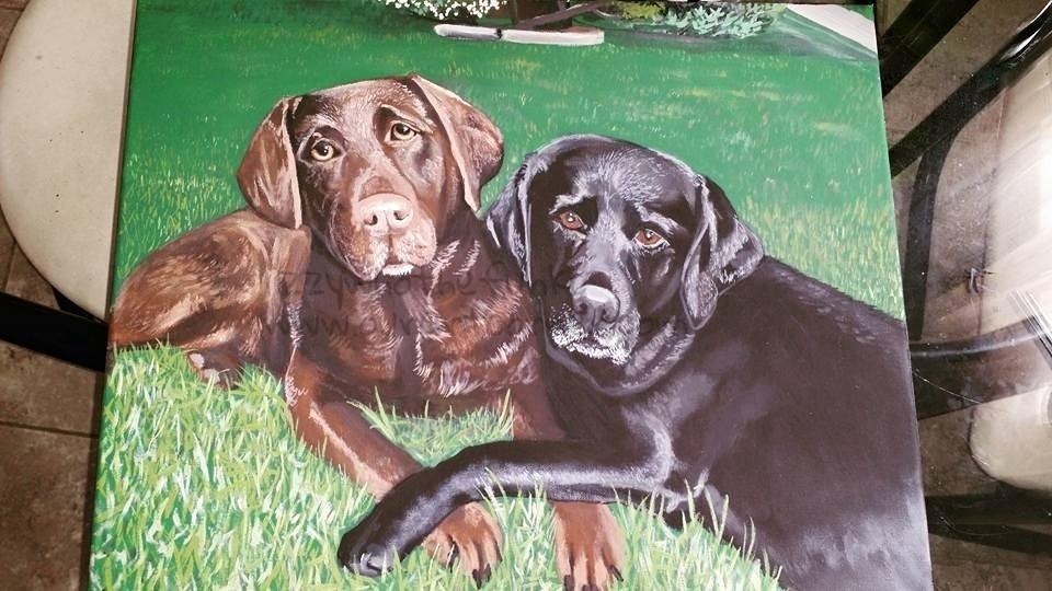 pet portrait painting- commission