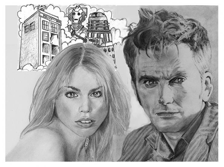 Doctor Who and Rose Tyler..and co