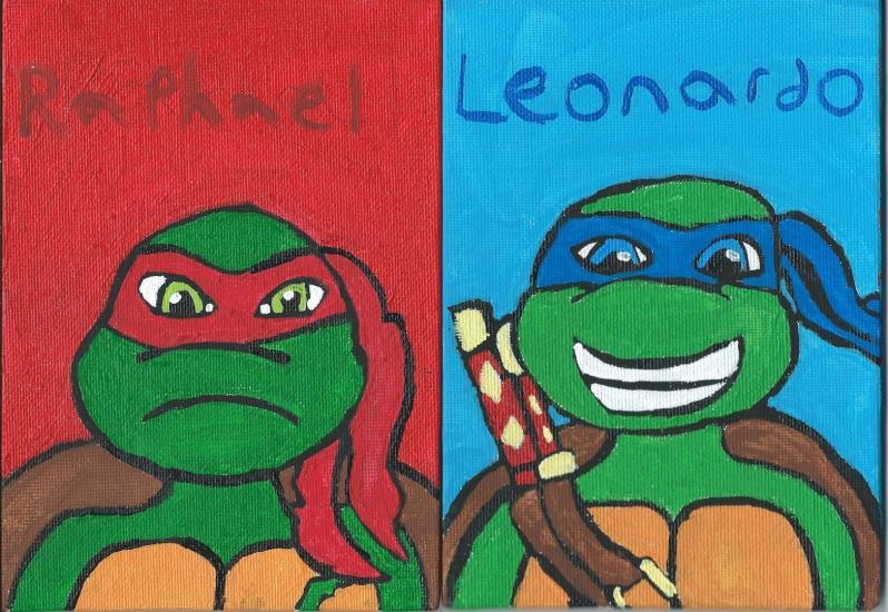 2012 TMNT leonardo and Raphael